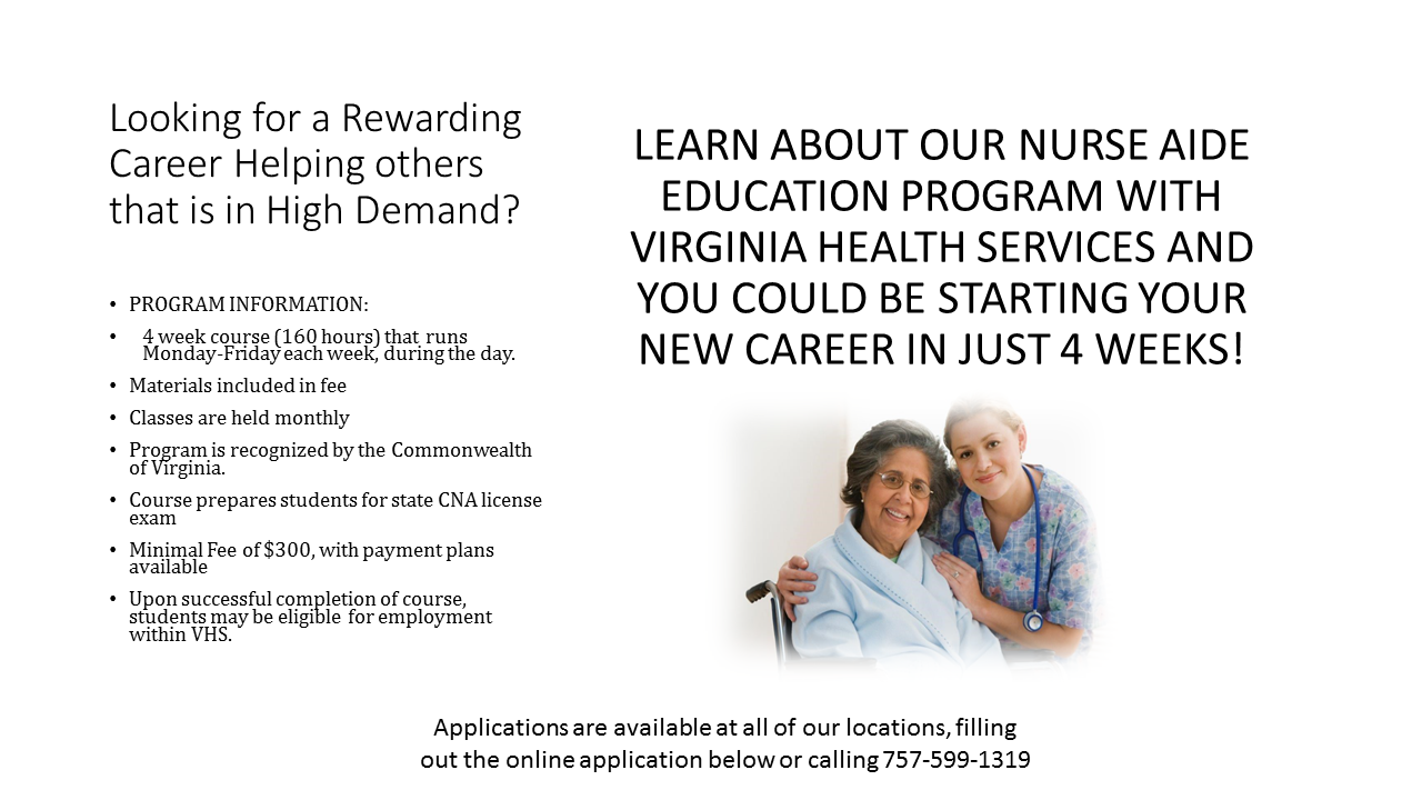 employment opportunities virginia health services